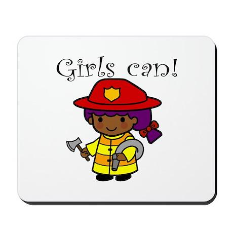 Girl Firefighter Mousepad
