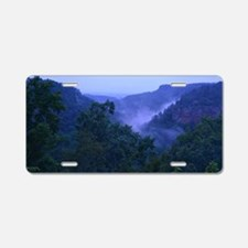 Ozark Mountain Fog Aluminum License Plate