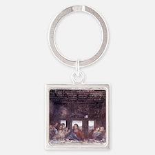 1497. Milan. Santa Maria delle Gra Square Keychain