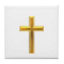 Golden Cross 2 Tile Coaster