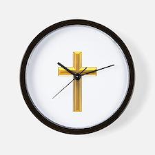 Golden Cross 2 Wall Clock
