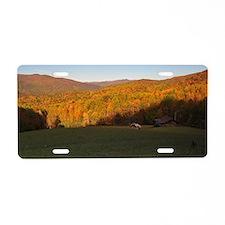 Smoky Mountain Pastoral Aluminum License Plate