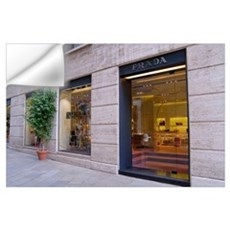 Italy, Milan, Prada storefront in Fashion District Wall Decal