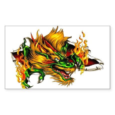 Dragon 1 Rectangle Sticker