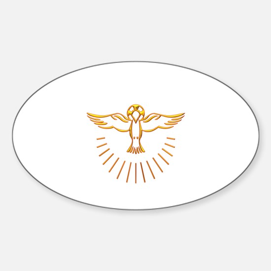 Ascent of The Holy Spirit Sticker (Oval)