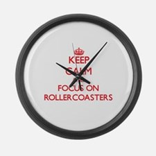 Funny Roller Large Wall Clock