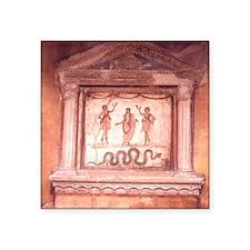 """Roman Domestic Shrine in th Square Sticker 3"""" x 3"""""""