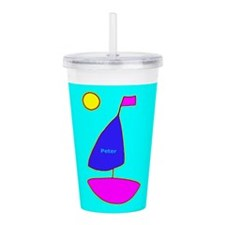 Sailboat For Peter Acrylic Double-Wall Tumbler