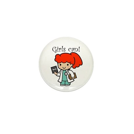 Girl Doctor Mini Button (10 pack)