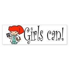 Girl Doctor Bumper Bumper Sticker