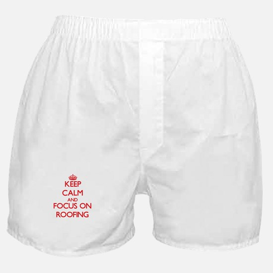 Cute Keep calm and check canopy Boxer Shorts