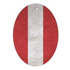 Austria Flag (Distressed / Vintage) Oval Ornament