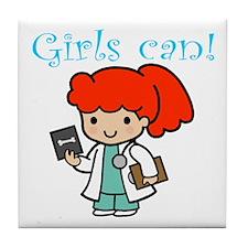 Girl Doctor Tile Coaster