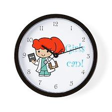 Girl Doctor Wall Clock