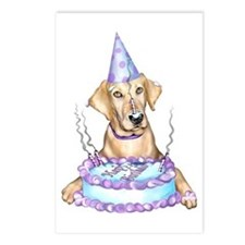 Yellow Lab Birthday Postcards (Package of 8)