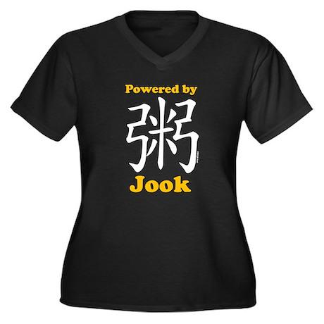 Powered by Jook Women's Plus Size V-Neck Dark T-Sh