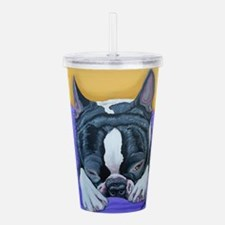Boston Terrier Acrylic Double-wall Tumbler