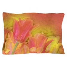 Tulips in Pastels Pillow Case