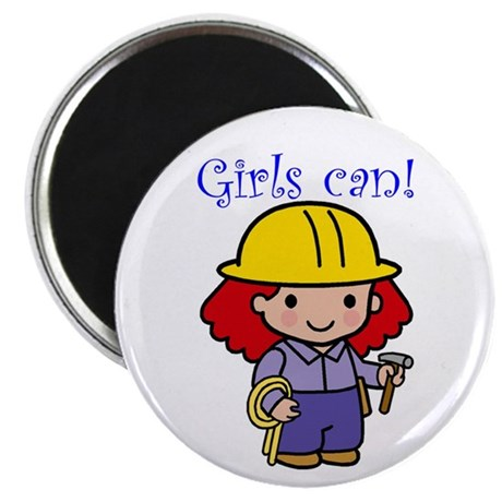 "Girl Construction Worker 2.25"" Magnet (10 pack)"