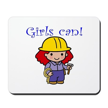 Girl Construction Worker Mousepad