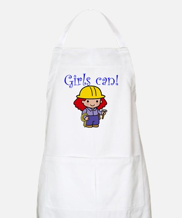Girl Construction Worker BBQ Apron