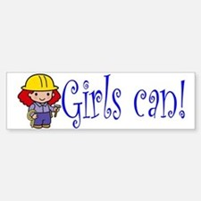 Girl Construction Worker Bumper Bumper Bumper Sticker