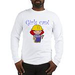 Girl Construction Worker Long Sleeve T-Shirt