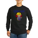 Girl Construction Worker Long Sleeve Dark T-Shirt