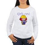 Girl Construction Worker Women's Long Sleeve T-Shi