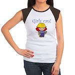 Girl Construction Worker Women's Cap Sleeve T-Shir