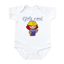 Girl Construction Worker Infant Bodysuit