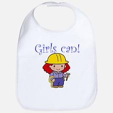 Girl Construction Worker Bib