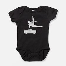 Pommel Horse Silhouette Baby Bodysuit
