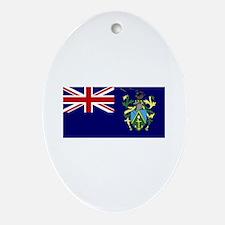 pitcairn islands flag Oval Ornament