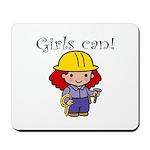 Girl Construction Worker Mousepad