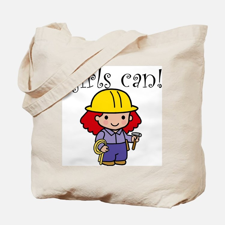 Girl Construction Worker Tote Bag