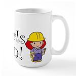 Girl Construction Worker Large Mug