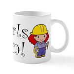 Girl Construction Worker Mug