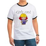 Girl Construction Worker Ringer T