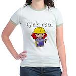 Girl Construction Worker Jr. Ringer T-Shirt