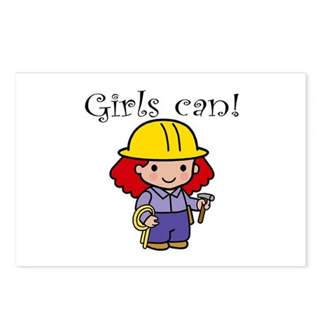 Girl Construction Worker Postcards (Package of 8)