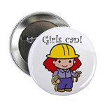 Girl Construction Worker Button