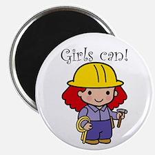 Girl Construction Worker Magnet