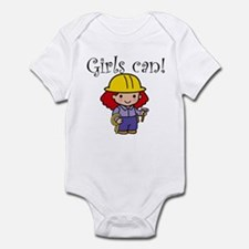 Girl Construction Worker Infant Bodysuit