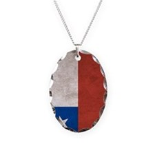 Chile Flag Vintage / Distresse Necklace