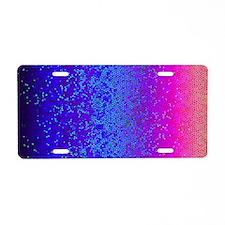 Glitter Star Dust G14 Aluminum License Plate