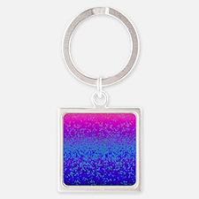 Glitter Star Dust G14 Square Keychain