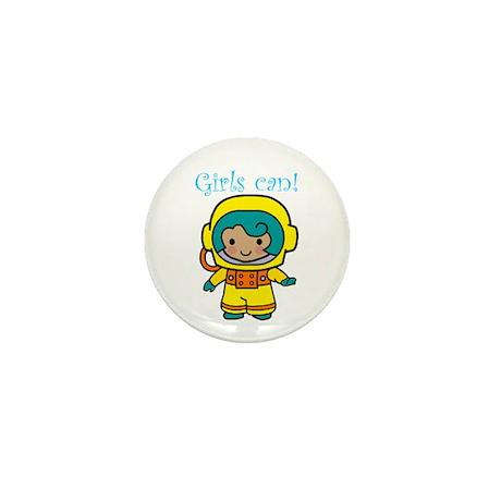 Girl Astronaut Mini Button (10 pack)