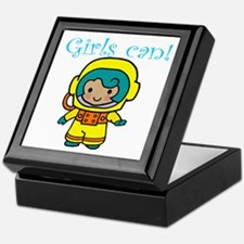 Girl Astronaut Keepsake Box