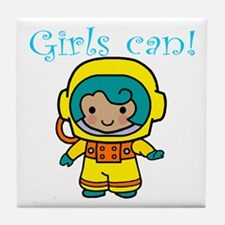 Girl Astronaut Tile Coaster